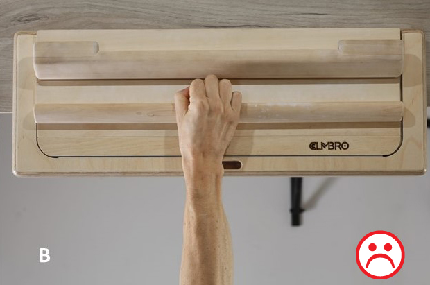 hang board crimp grip