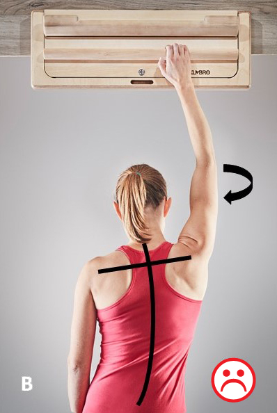 hang board shoulders wrong position